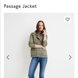 Madewell Passage Utility Green Lightweight Jacket